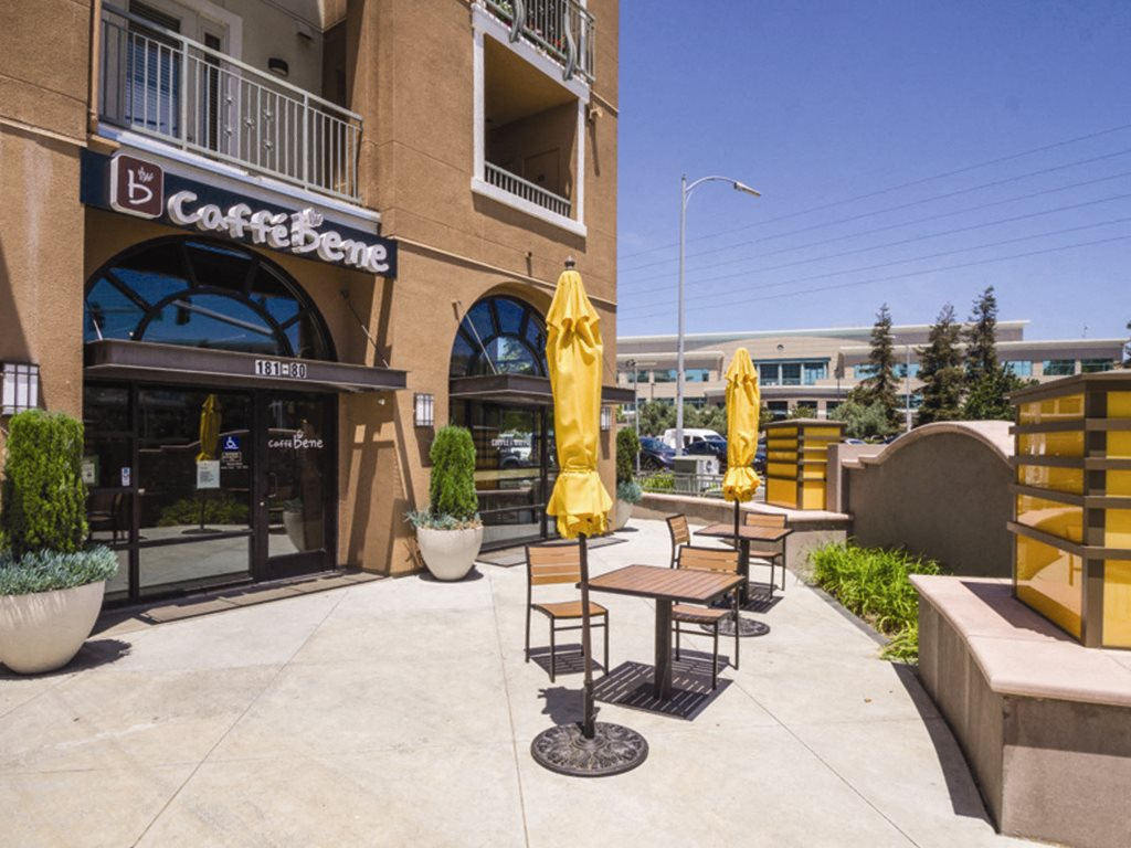 Caffe Benne patio at Verdant Apartments in San Jose CA