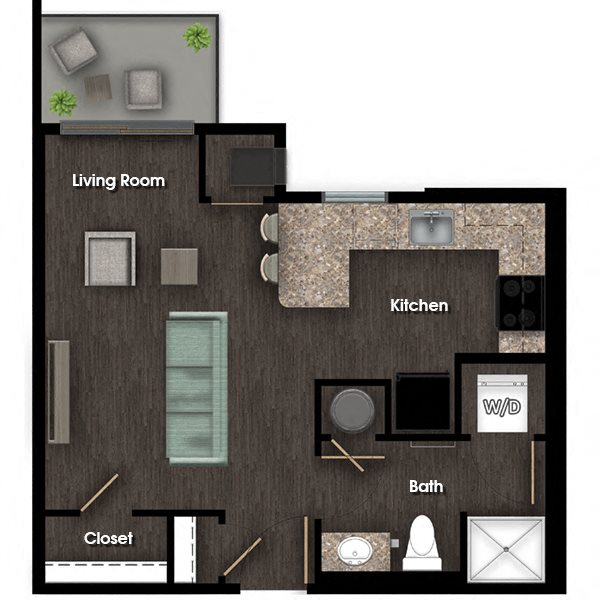 Hamilton studio floor plan