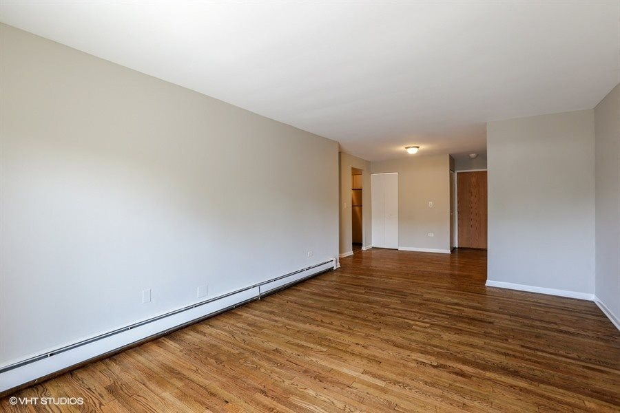 Large open living and dining area