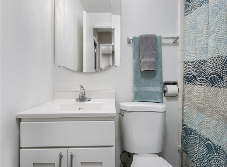 Bright White Bathrooms