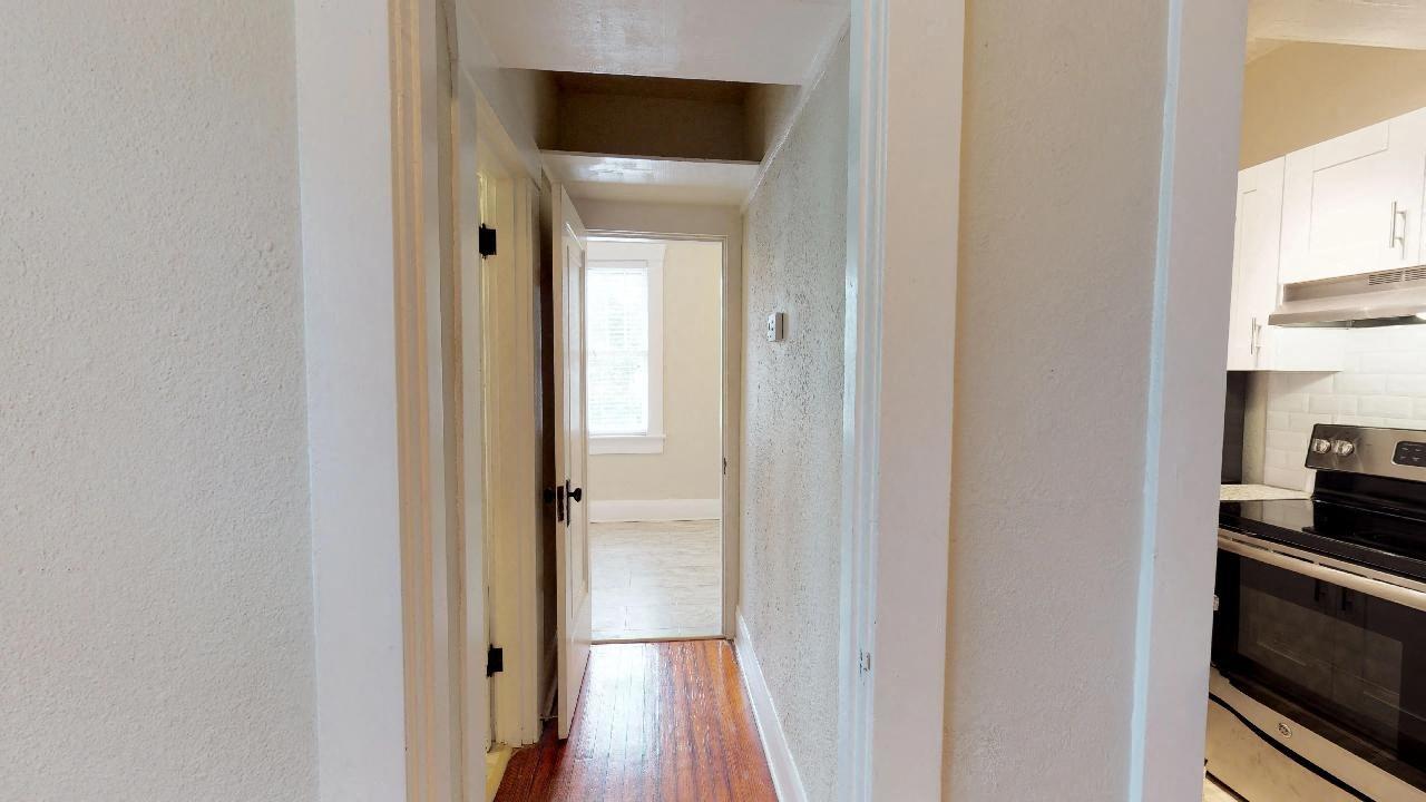 Additional storage nook above hallway