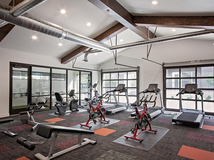 24 hour fitness center with cardio equipment