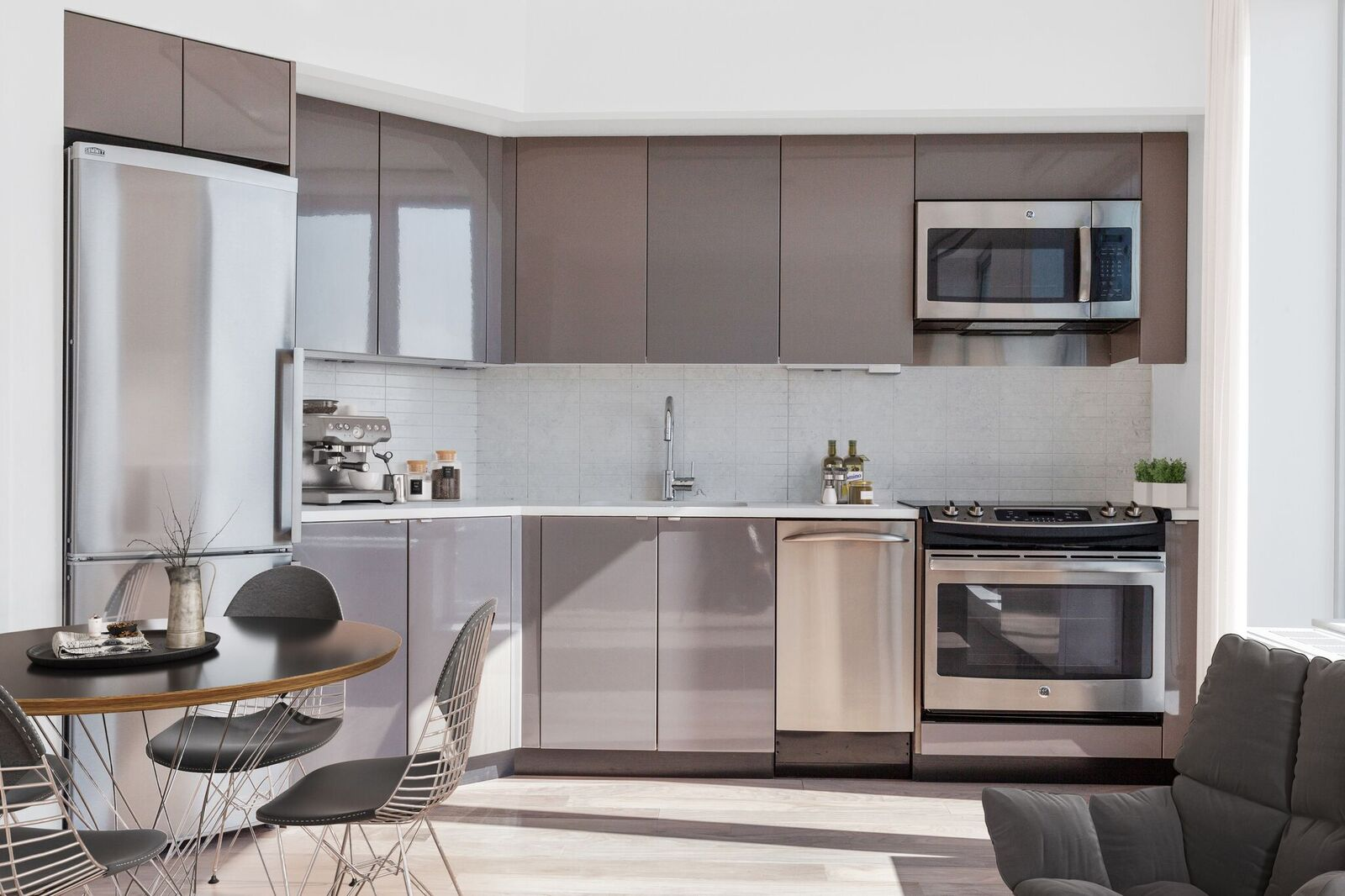 461 Dean Apartments include modern kitchens