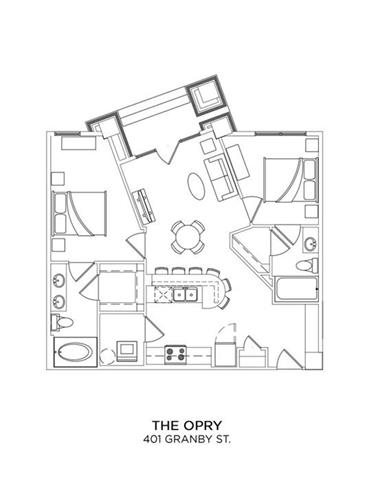 THE OPRY Floor Plan 15