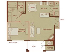 Sonoma Resort Apartments 1 bed 1 bath 707 sqft