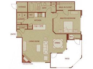 Sonoma Resort Apartments 1 bed 1 bath 780 sqft