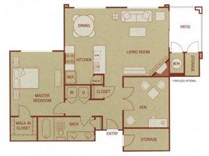 Sonoma Resort Apartments 1 bed 1 bath 916 sqft