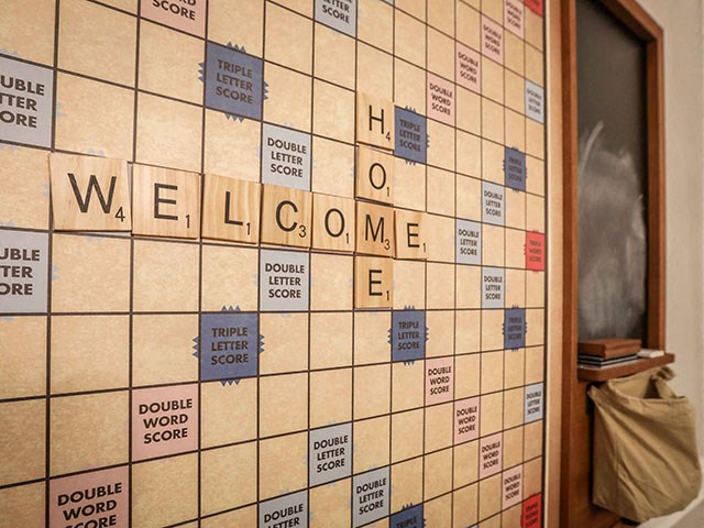 wall scrabble with