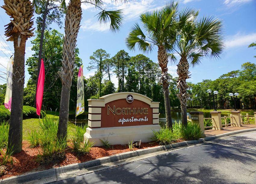 Northlake Apartments Jacksonville, Florida community entrance monument sign