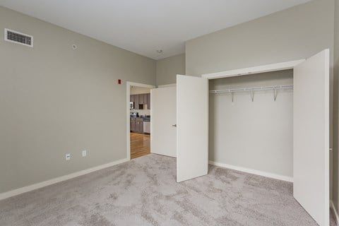 gale lofts bedroom with closet