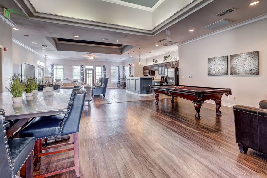 Community Lounge with pool table