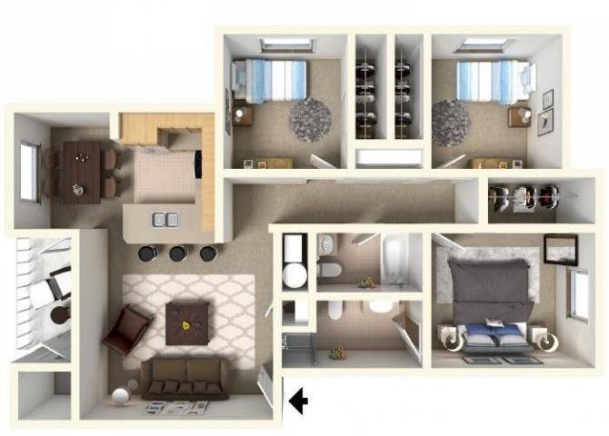3 BED Floor Plan 3