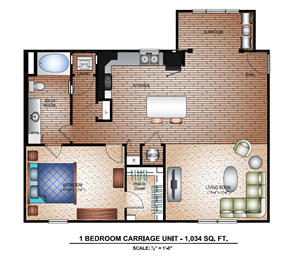1 Bedroom Carriage Sunroom