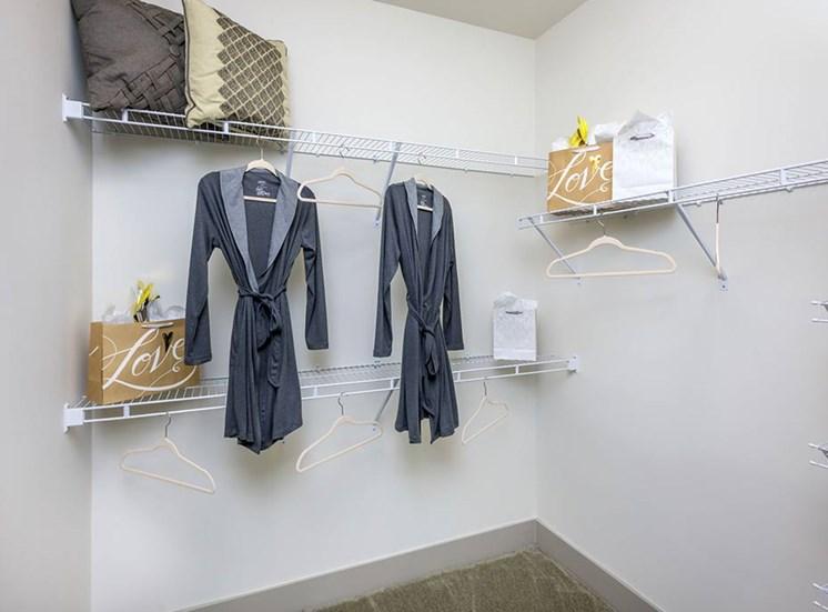 Walk-In Closets at The Haven at Rivergate, North Carolina