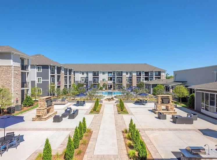 Beautiful Courtyard Area at The Haven at Rivergate, Charlotte, North Carolina