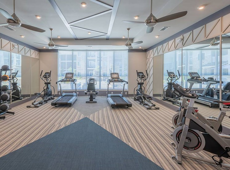 Fully Equipped Fitness Center at The Haven at Rivergate, Charlotte, NC, 28273