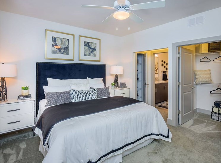 Comfortable Bedroom With Accessible Closet at The Haven at Rivergate, Charlotte, NC, 28273