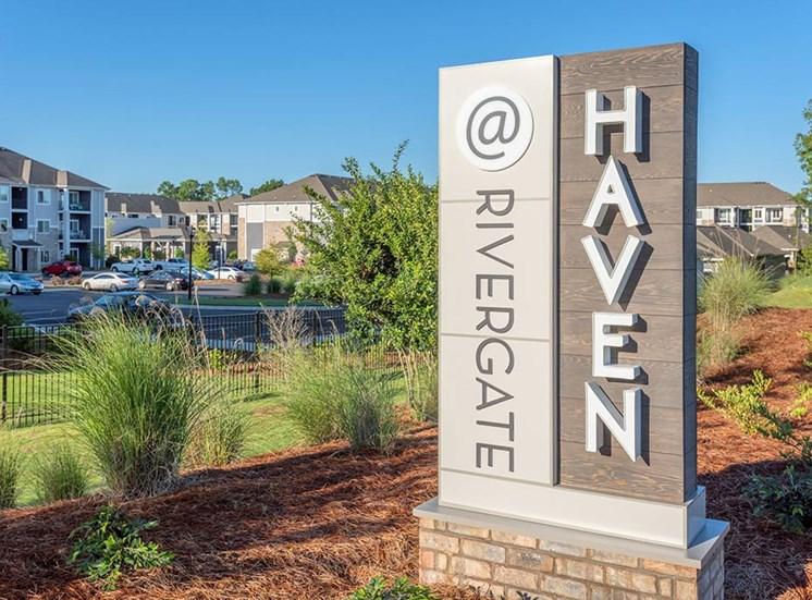 Monument Sign at The Haven at Rivergate, North Carolina