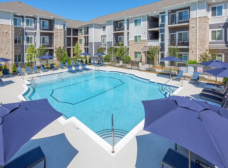 Picturesque Pool And Cabana Setting at The Haven at Rivergate, Charlotte, NC