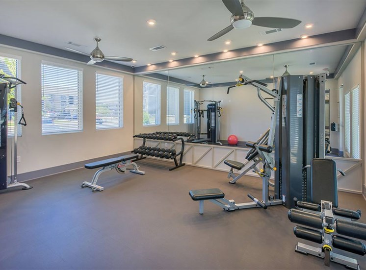 Fitness Center With Yoga/Stretch Area at The Haven at Rivergate, Charlotte