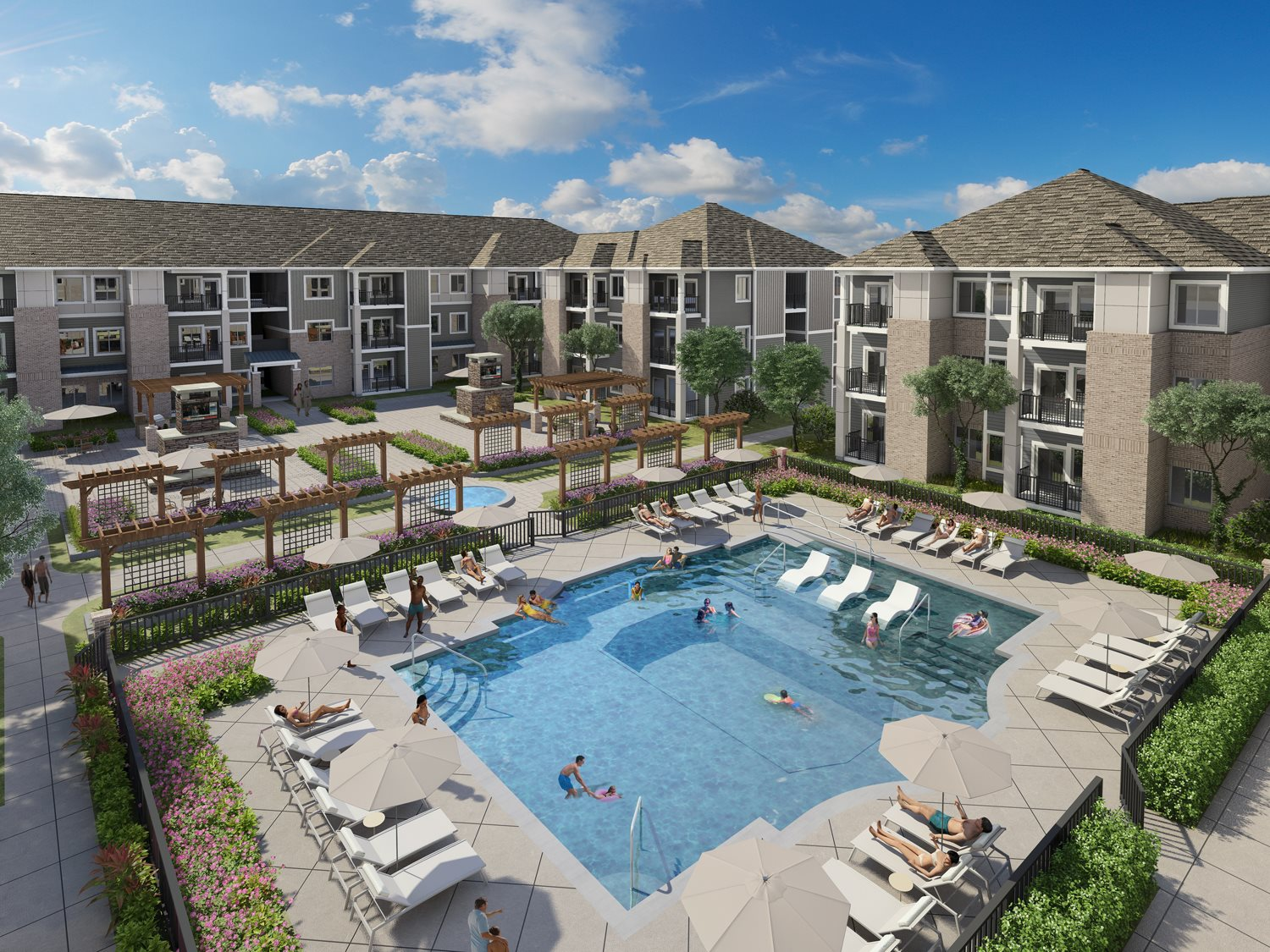 View of Pool for Property Rendering at The Haven at Rivergate in Charlotte, North Carolina 28273
