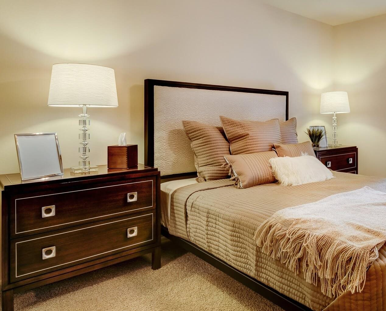 Bedroom in Dover floorplan at The Villages at General Grant Apartments in Affton, MO.