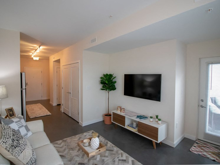 Enjoy concrete floors in all 2nd floor apartments, wood-look plank flooring on floors 3-5.