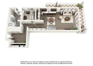 2 Bedroom Two Bath Penthouse