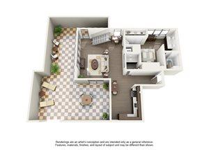 2 Bedroom 2.5 Bath Penthouse