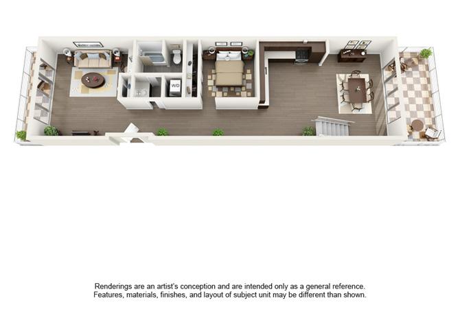 Floor plan at Berkeley Central, Berkeley, CA