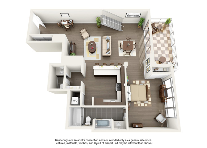 Floor plan at Berkeley Central, Berkeley
