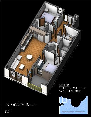 B3 2 Bedroom 2 Bathroom