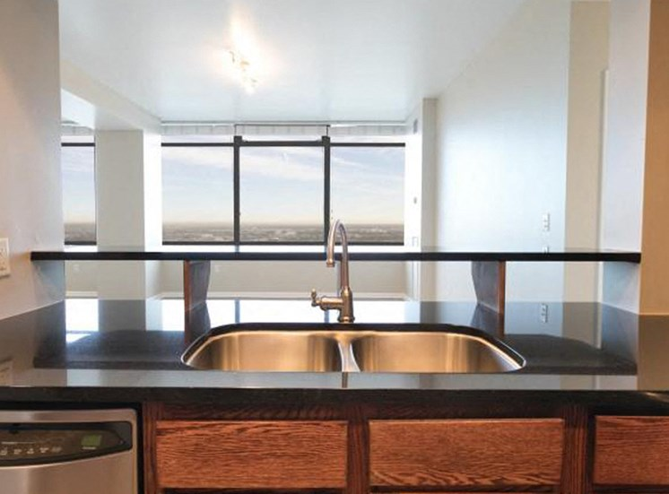 Penthouse kitchen | Apartments Homes for rent in Denver, CO | The Apartments at Denver Place