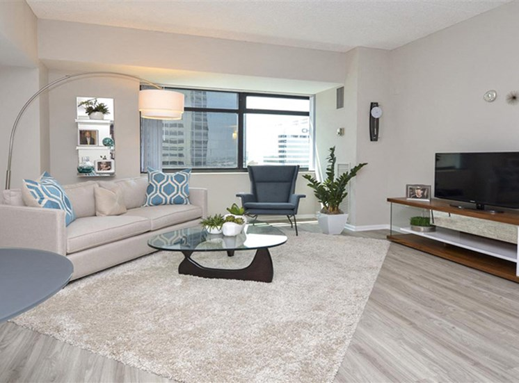Spacious Living Room | Apartments in Denver, CO | The Apartments at Denver Place