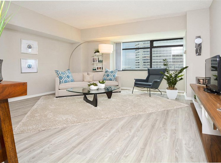 Elegant Living Room | Apartments for rent in Denver, CO | The Apartments at Denver Place