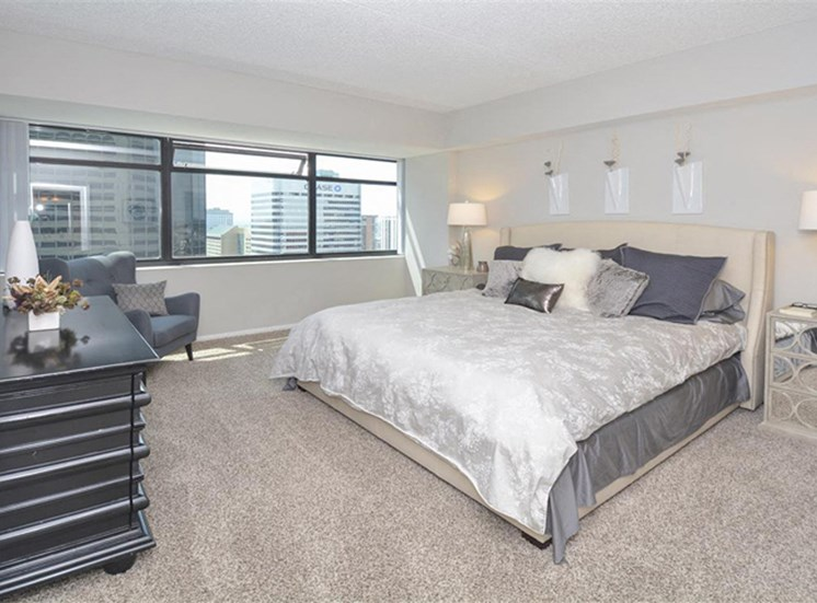 Spacious Master Bedroom | Apartments Homes for rent in Denver, CO | The Apartments at Denver Place