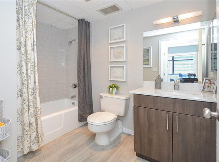 Spacious Master Bathroom | Apartments Homes for rent in Denver, CO | The Apartments at Denver Place