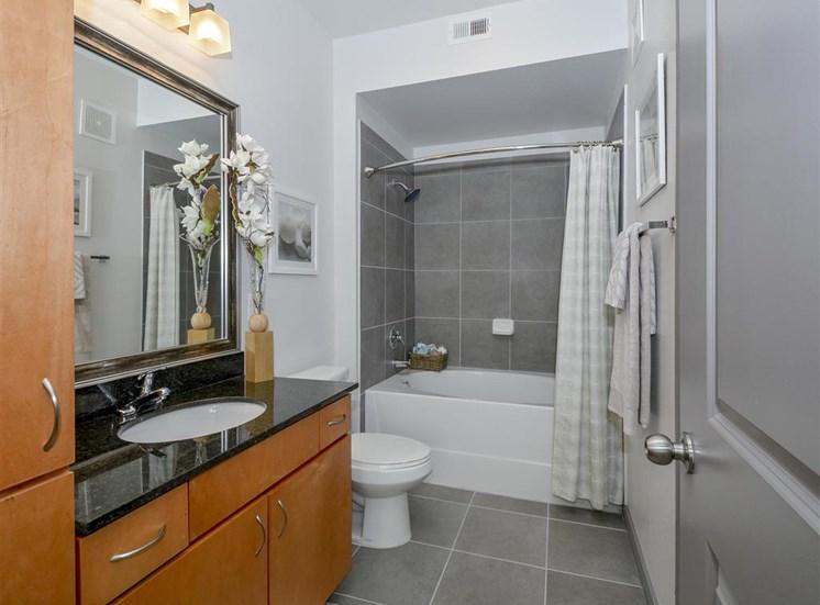 Spacious Master Bathroom | Haven at Eldridge Apartments, Houston TX