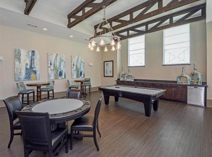 Resident Pool Table | Haven at Eldridge Apartments, Houston TX
