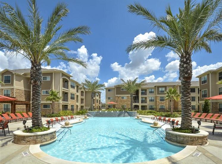 Resort Style Pool | Haven at Eldridge Apartments, Houston TX