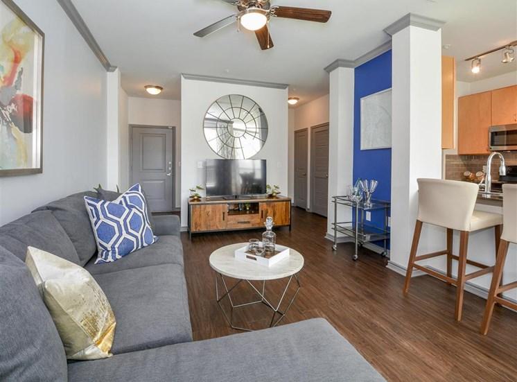 Spacious Living Room | Haven at Eldridge Apartments, Houston TX