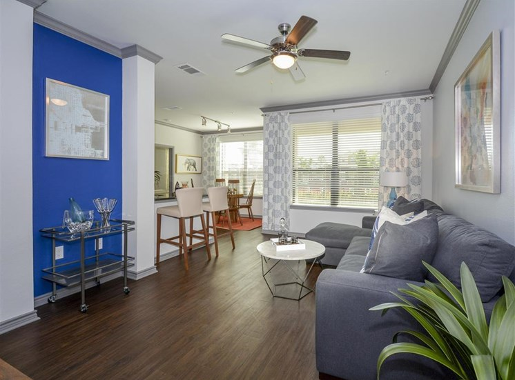 Elegant Living Room | Haven at Eldridge Apartments, Houston TX