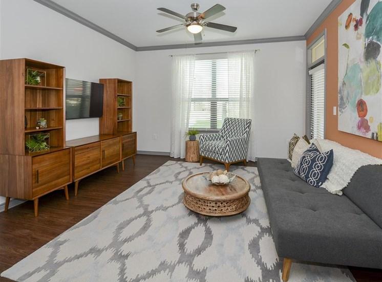 Living Room | Haven at Eldridge Apartments, Houston TX