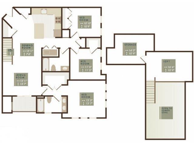 BECKETT LOFT Floor Plan 30