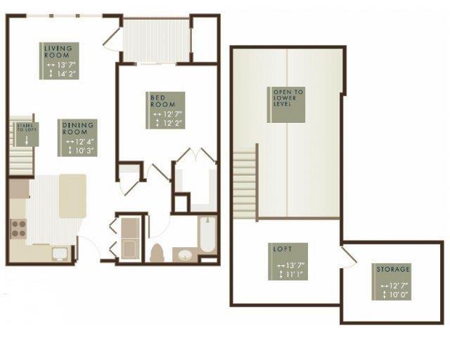 CEDAR LOFT Floor Plan 1