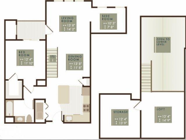 CREST LOFT Floor Plan 2