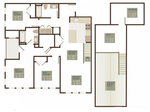 MORGAN LOFT Floor Plan 28