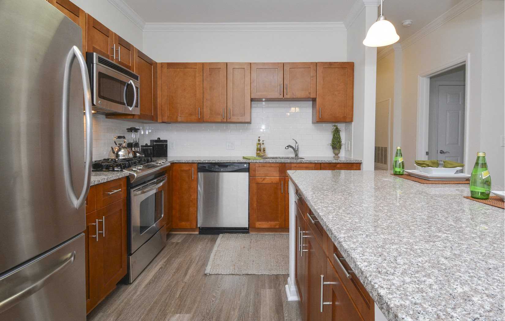 energy star appliances and gas stoves in kitchen | Glenview House Apartments Stamford CT