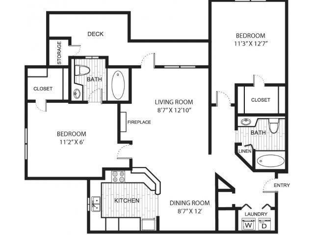 Floor plans of hannover grand at sandy springs in atlanta ga - 2 bedroom apartments sandy springs ga ...