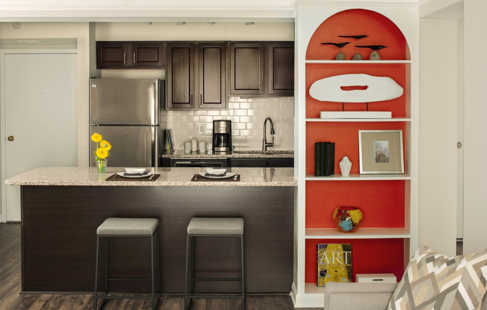 Kitchen with Breakfast Bar | 2460 Peachtree Apartments at Peachtree Battle